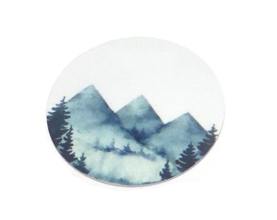 "Metal Mountains Charm Pendant Handmade 1"" 25mm MC6-3"