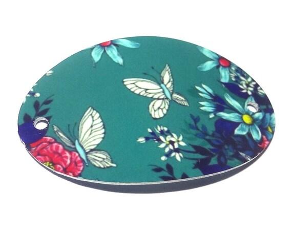 Metal Butterfly Floral Bracelet Bar Handmade Cuff