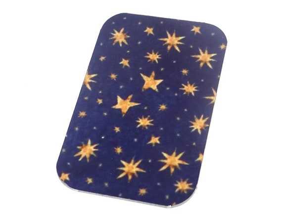 Small Metal Stars Pendant Handmade 32mm