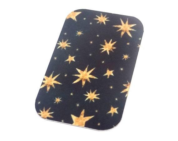 "Small Stars Pendant Handmade Black Gold 32mm 1.25"""
