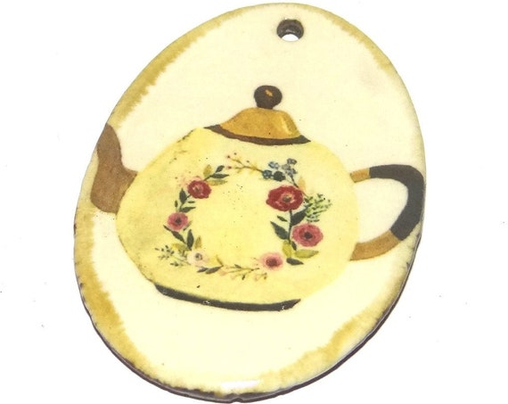 Ceramic Kettle Pendant Porcelain Handmade Focal
