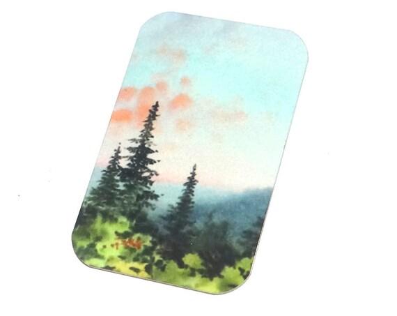 "Small Metal Forest Sky Pendant Handmade 32mm 1.25"" MSR5-1"