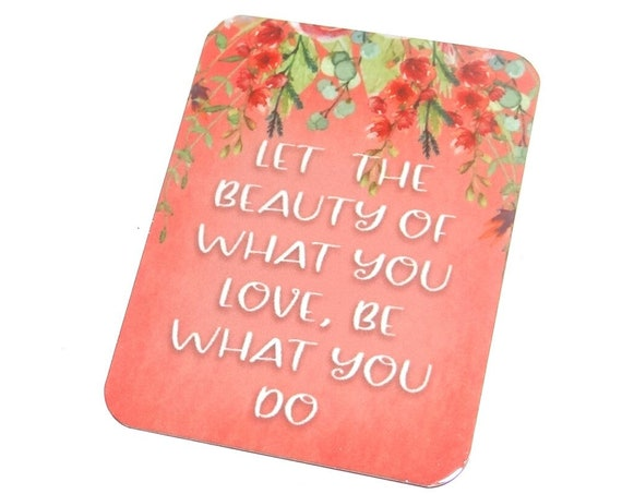"""Large Metal Quote Pendant Handmade Floral 45mm 1.8"""" MLP7-2"""