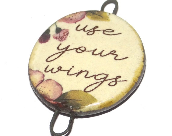 Ceramic Quote Pendant Message Aspiration Inspirational Motivational