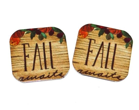 "Metal Fall Autumn Earring Charms Handmade 16mm 5/8"" MC1-4"