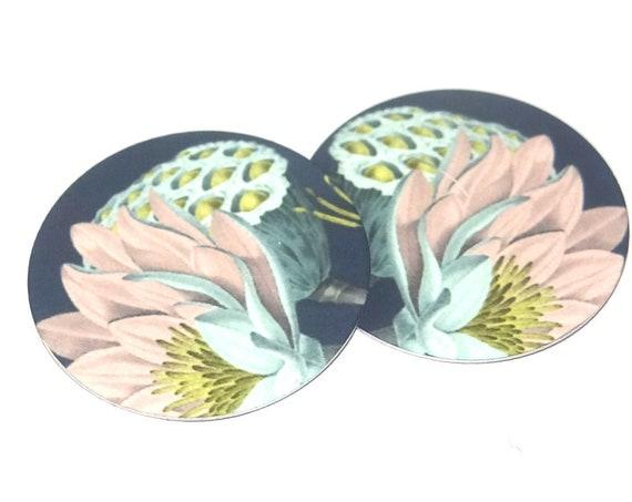 Metal Flower Charms Handmade Floral Lotus Pods