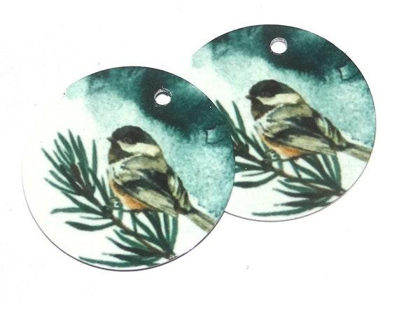 Metal Bird Earring Charms Handmade