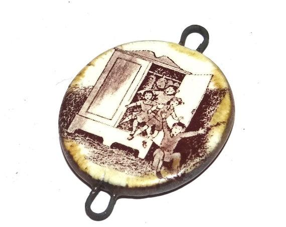 Ceramic Wardrobe Narnia Pendant Handmade Focal Rustic