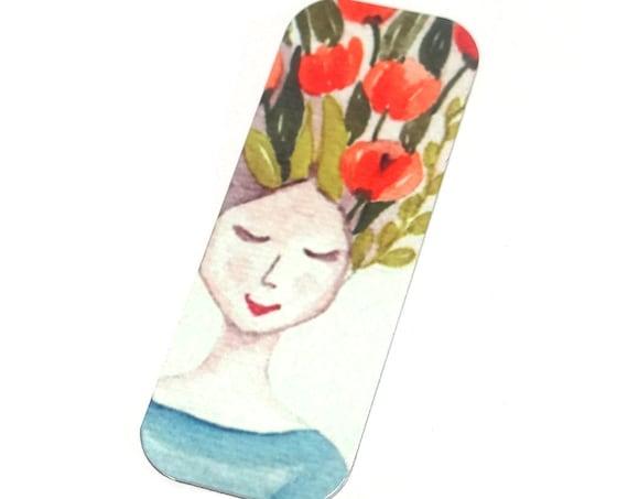"Metal Flower Lady Pendant Handmade Gardening 40mm 1.6"" MLP6-1"