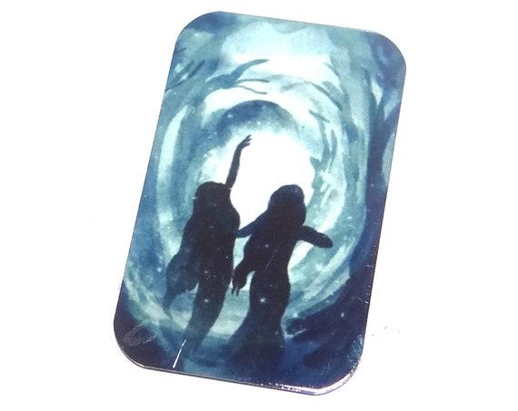 """Metal Female Goddess Pendant Handmade 32mm 1.25"""" MSR5-1"""