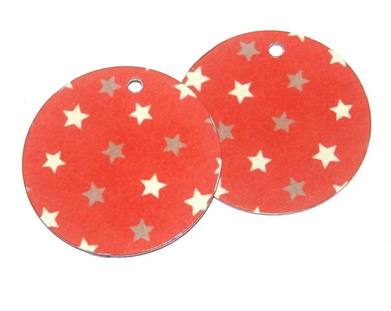 Metal Pink Stars Earring Charms Handmade