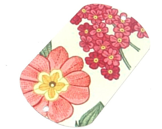 """Metal Flower Pendant Bracelet Bar Handmade Cuff Vintage Floral 50MM 2"""" MLP7-3"""