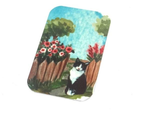 "Metal Cat Pendant Charm Handmade Animal 32mm 1.25"" MSR5-2"
