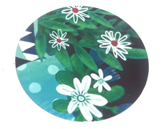 """Metal Floral Cabochon Round Patterned Handmade 50mm 2"""" MLP7-1"""