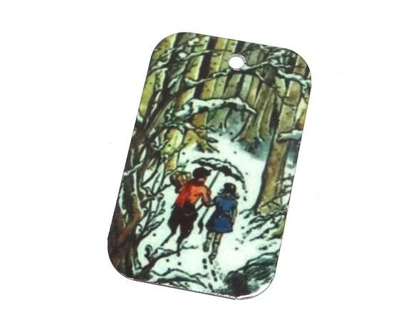 Metal Mr Tumnus Narnia Pendant Handmade