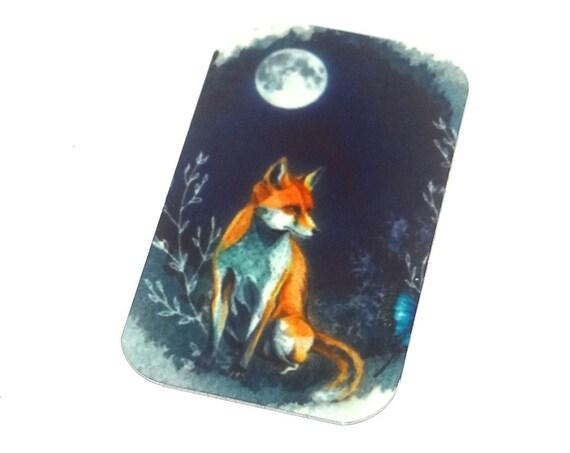 "Small Metal Fox Pendant Handmade 32mm 1.25"" MSR5-2"