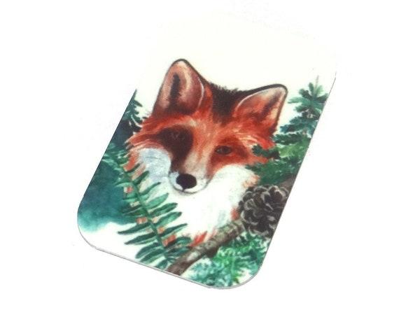 Metal Fox Pendant Handmade