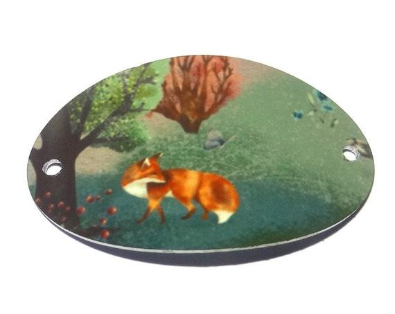 Metal Fox Bracelet Bar Handmade Cuff