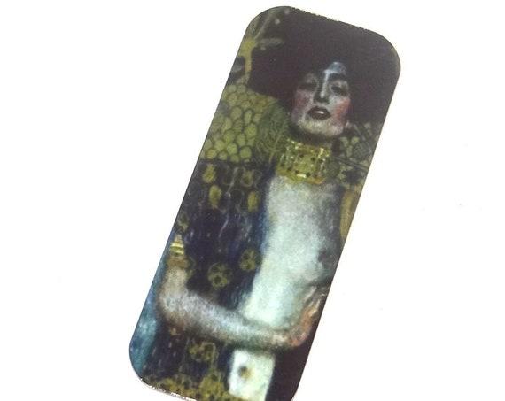 Long Metal Klimt Pendant Handmade 40mm