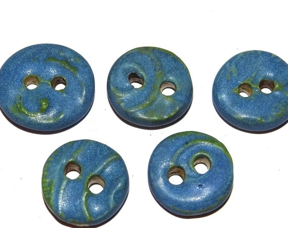 Ceramic Textured Buttons Porcelain Handmade Unique Rustic CB10-1