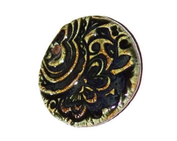 Ceramic Pendant Handmade Rustic Textured
