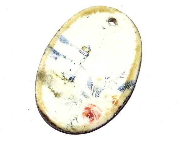 Ceramic Unicorn Pendant Stoneware Handmade Spring