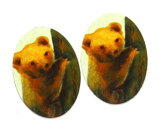 "Metal Bear Charms Handmade 25mm 1"""