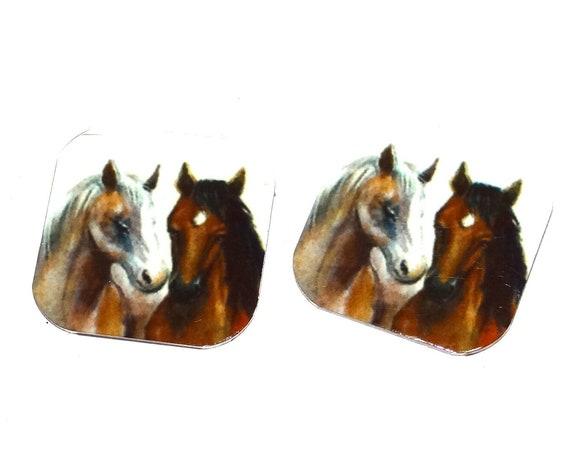 Metal Horse Charms Handmade 16mm