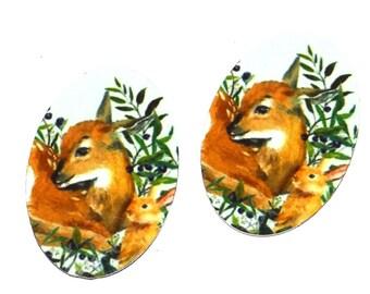 """Metal Deer Charms Handmade 25mm 1"""""""