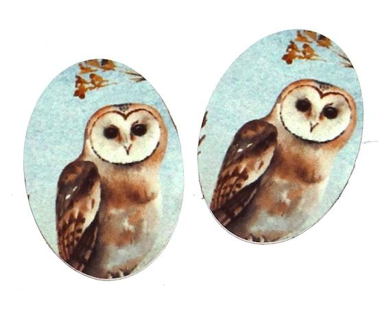 """Metal Owl Charms Handmade 20mm 0.8"""""""