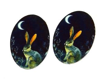 "Metal Hare Charms Handmade 25mm 1"""