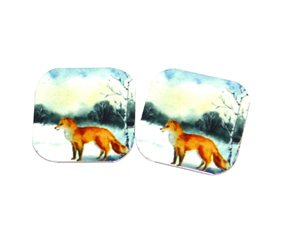Metal Fox Charms Handmade 16mm