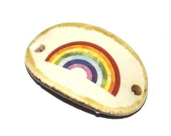 Ceramic Rainbow Handmade Porcelain Bracelet Bar