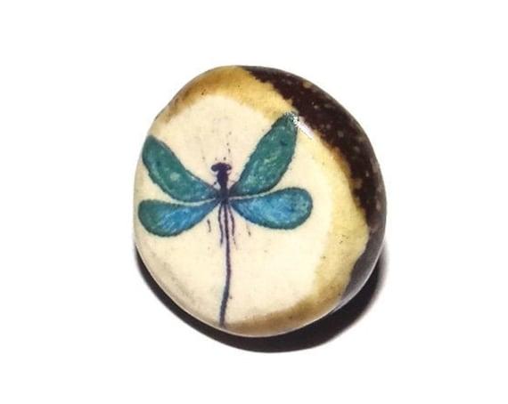 Ceramic Butterfly Shank Button Handmade Porcelain