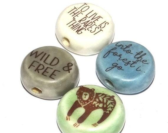 Ceramic Quote Bead Set Quotes