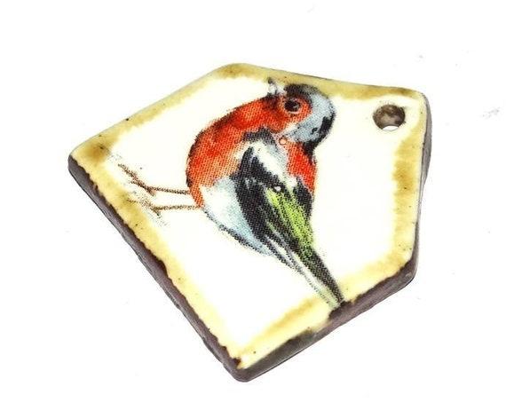Ceramic Bird House Pendant Handmade Rustic