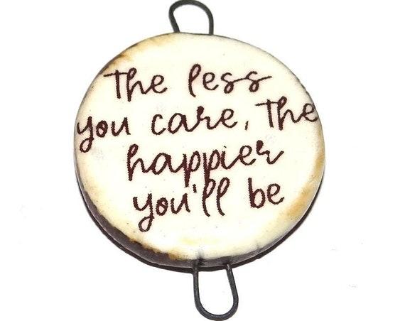 Ceramic Quote Pendant Word Handmade Focal Inspirational Motivational Attitude