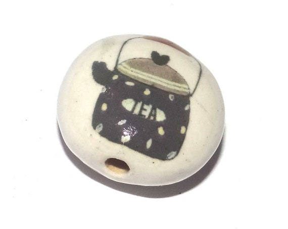 Ceramic Kettle Bead Porcelain Handmade Drink Tea Beads