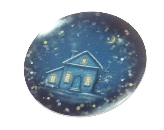 "Metal Snow Globe Charm Pendant Handmade 1"" 25mm MC6-3"