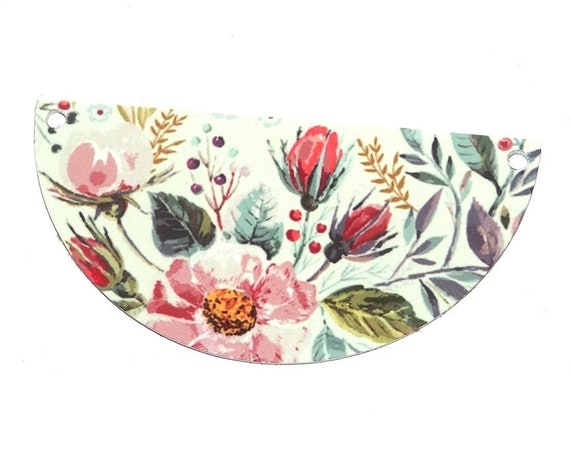Metal Floral Foliage Pendant Handmade
