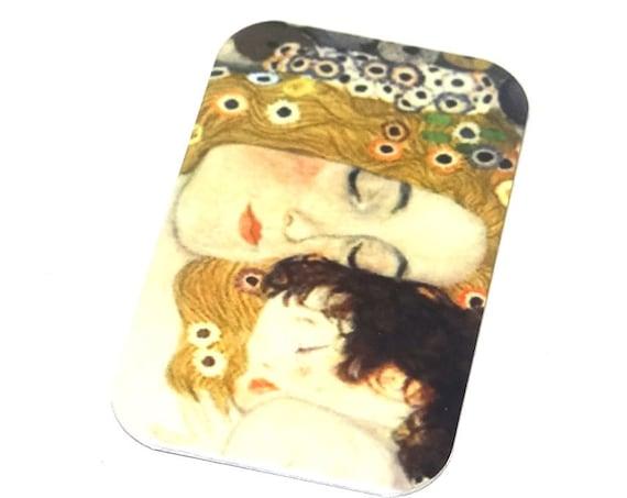 Metal Klimt Mother Child Pendant Handmade
