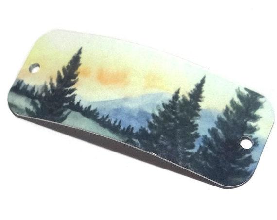 """Metal Bracelet Bar Cuff Handmade Forest 40mm 1.6"""" MBB3-3"""