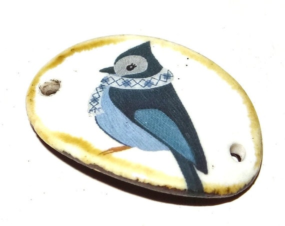 Ceramic Bird Bracelet Bar Handmade Cuff Porcelain