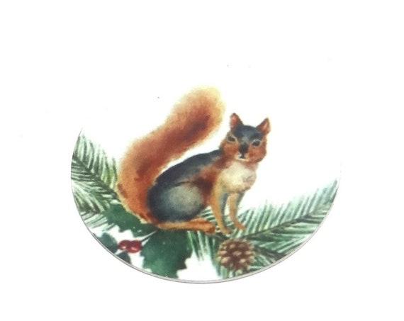"Metal Squirrel Charm Pendant Handmade 1"" 25mm MC6-3"