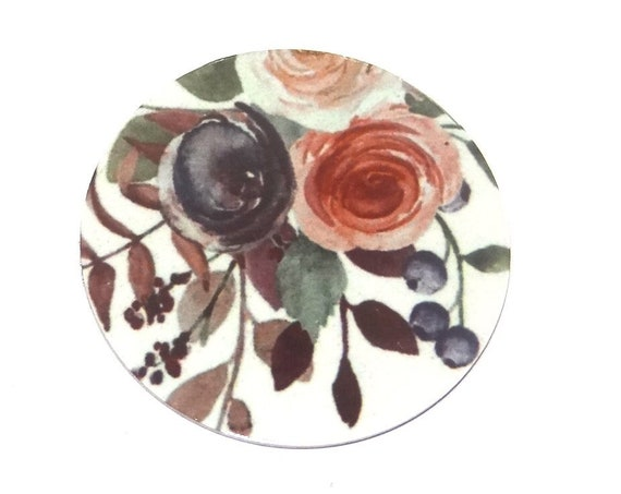 "Metal Roses Charm Pendant Handmade 25mm 1"" MC6-3"