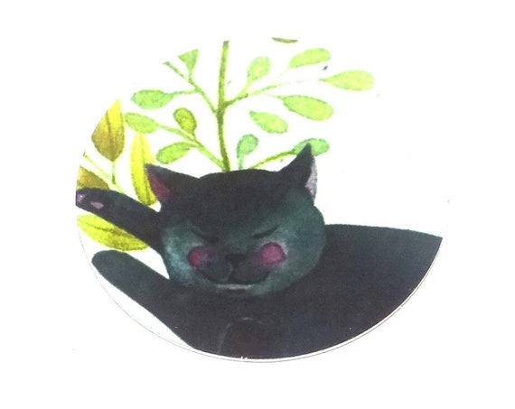 Metal Cat Charm Pendant Handmade