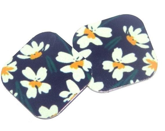 "Metal Floral Flower Charms Handmade 16mm 5/8"" MC1-1"