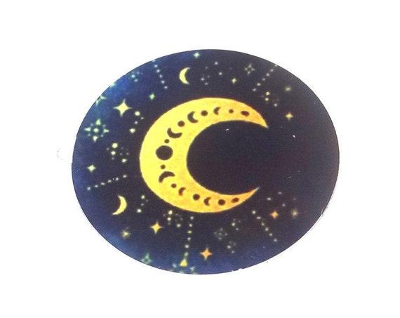 Metal Moon Pendant Handmade