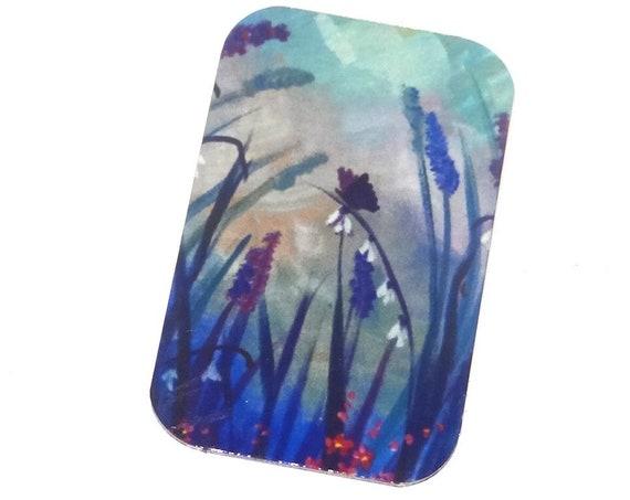 Small Metal Fields Flowers Butterfly Pendant Handmade 32mm