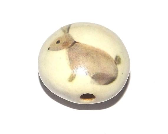Ceramic Rabbit Hare Bead Porcelain Pottery